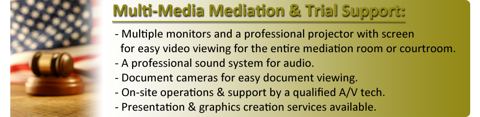 Memphis Legal Video - Mediation and Trial Multi-Media Support